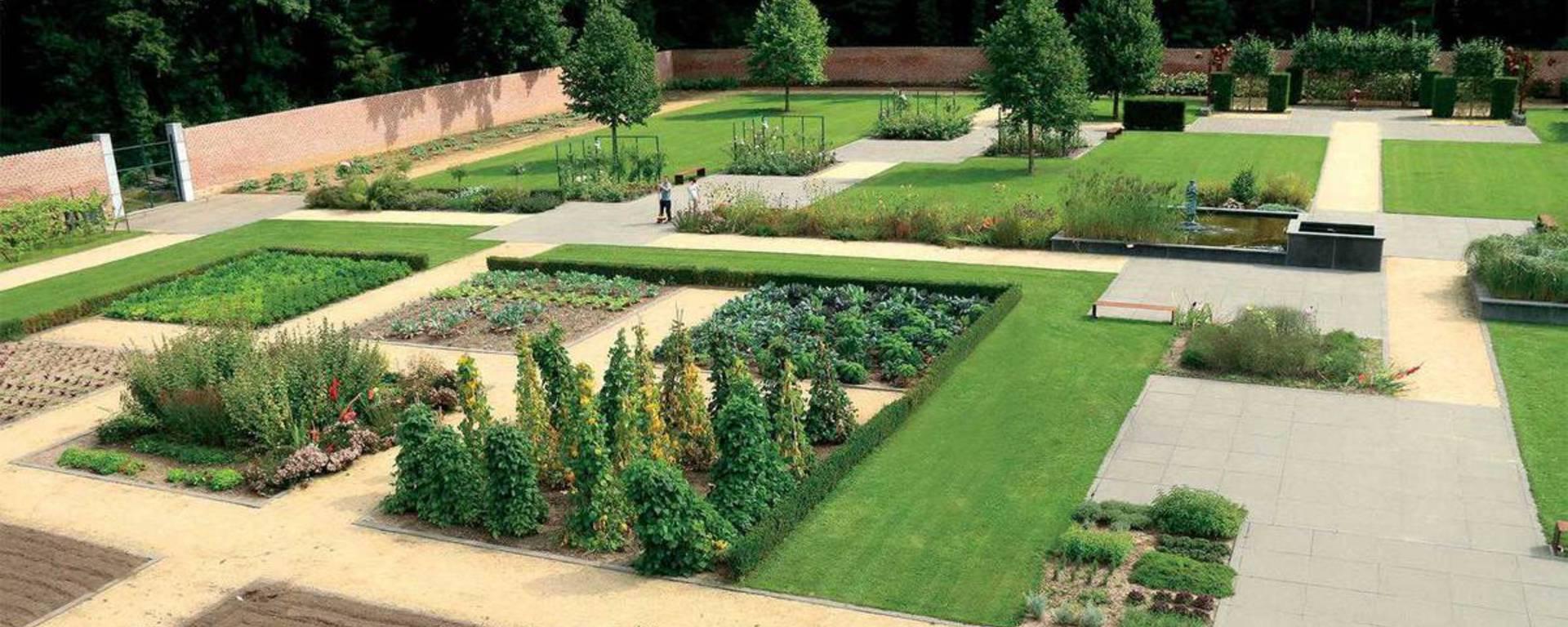 Jehay castle vegetable garden