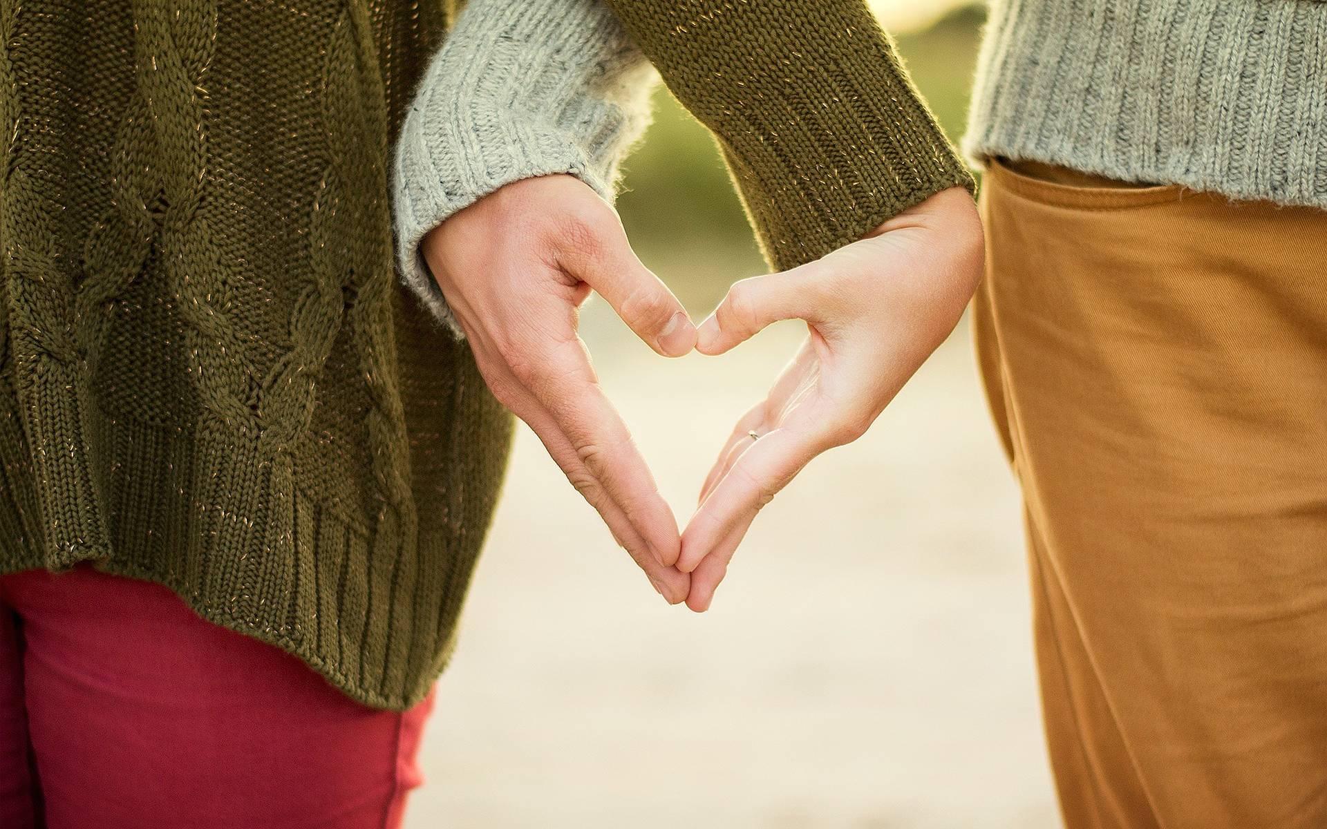 Mains en coeur
