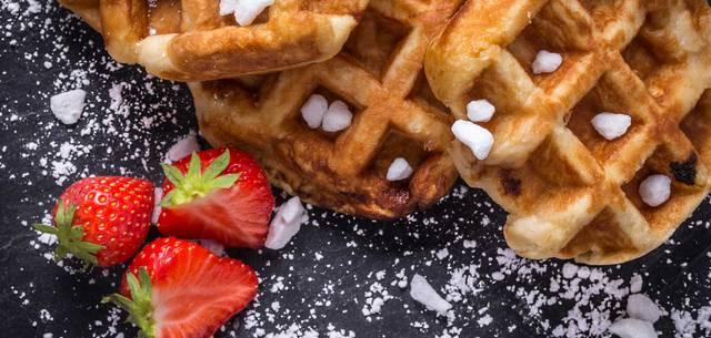 Gaufre avec des fraises - Gregory Dewaelheyns