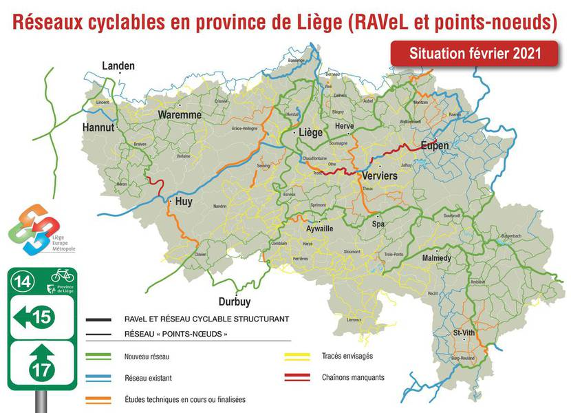 Bicycle Nodes Network of Liège Province