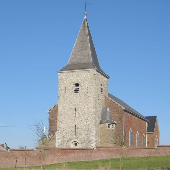 Church Saint-Hadelin in Lamine